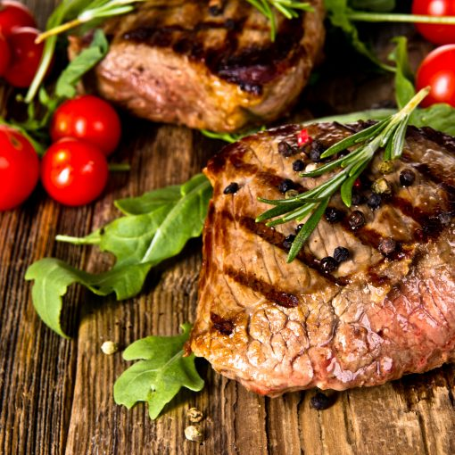 steak with tomato photo